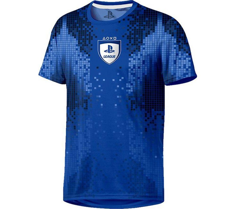 PLAYSTATION E-Sports 8-Bit T-Shirt - XL, Blue