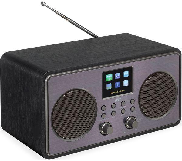 buy jvc ra d58b smart bluetooth radio black free. Black Bedroom Furniture Sets. Home Design Ideas