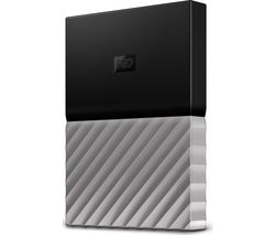 WD My Passport Ultra Portable Hard Drive - 1 TB, Black & Grey