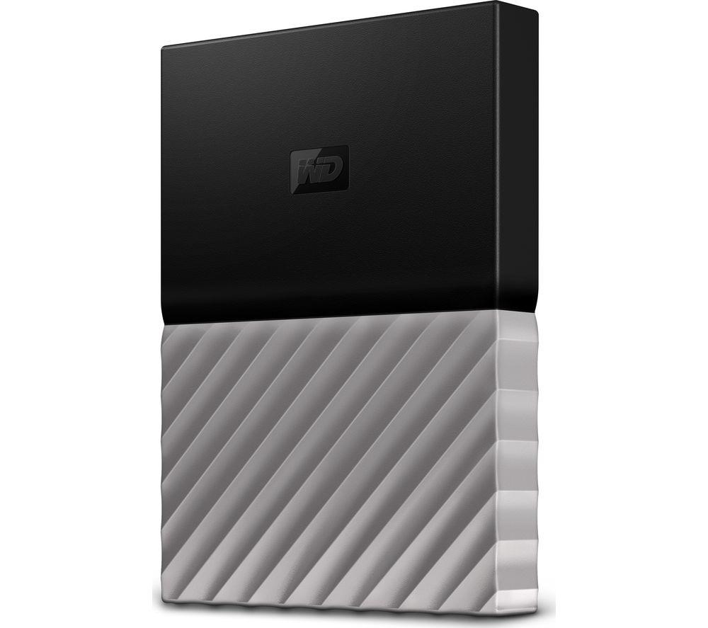 WD My Passport Ultra Portable Hard Drive - 1 TB, Black & Grey
