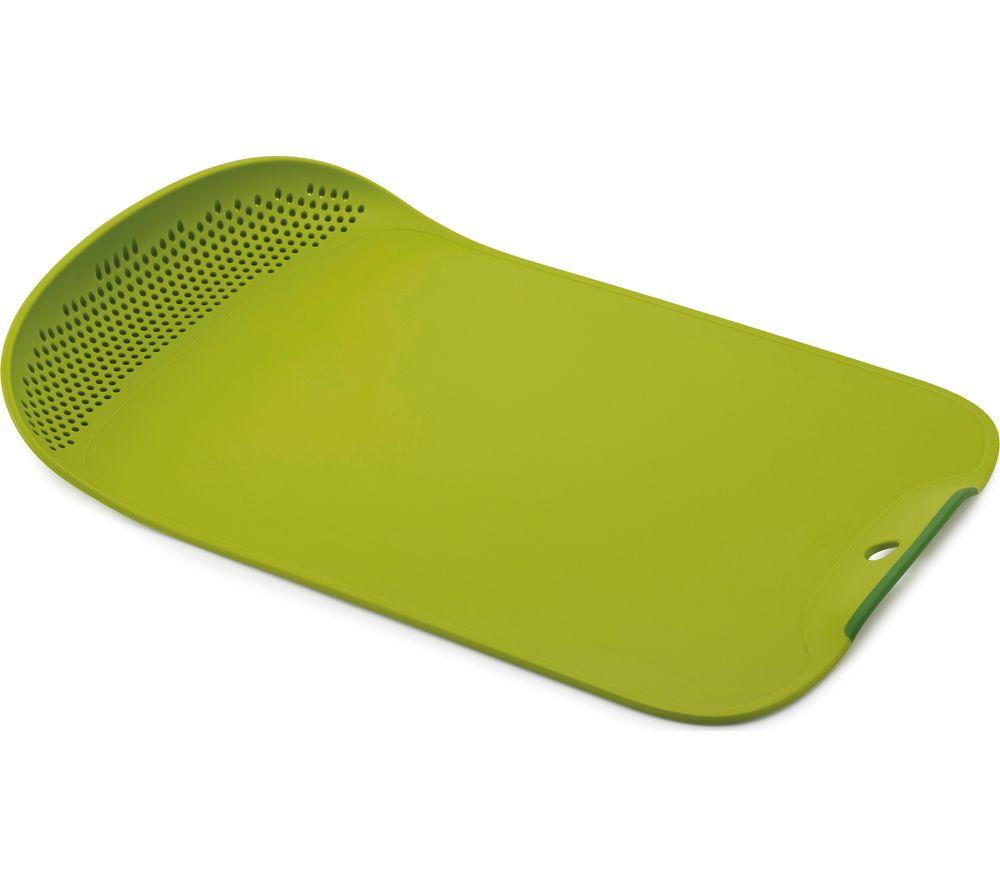 Image of JOSEPH JOSEPH Chop & Drain Chopping Board - Green, Green