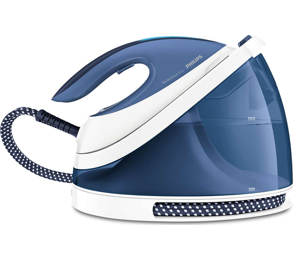 Image of PHILIPS PerfectCare Viva GC7057/20 Stream Generator Iron - Blue, Blue