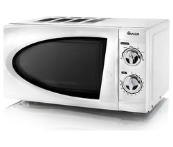 SWAN SM3090N Compact Solo Microwave - White