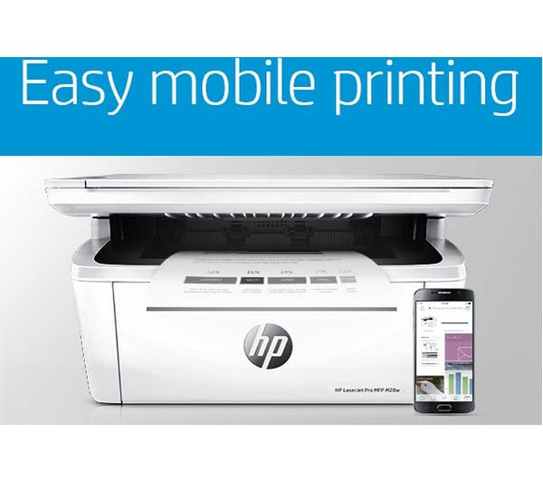 HP LaserJet Pro M28W Monochrome All-in-One Wireless Laser Printer