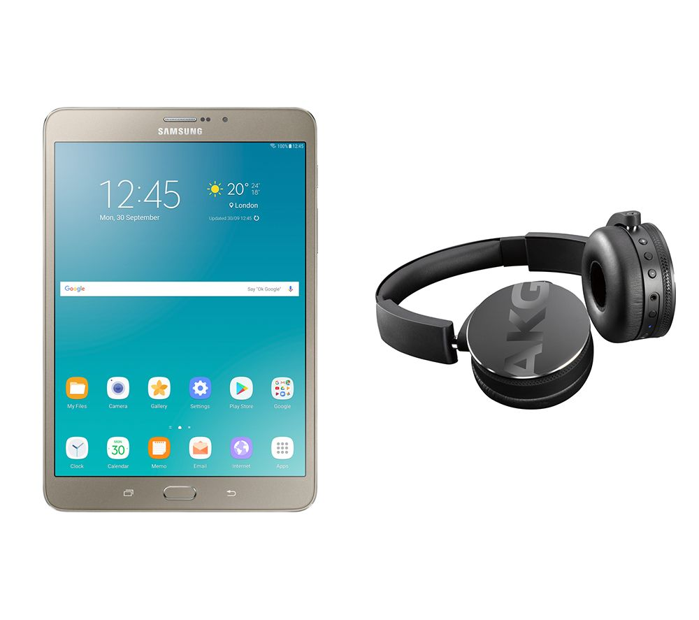 "Image of SAMSUNG Galaxy Tab S2 8"" Tablet & C50BT Wireless Bluetooth Headphones Bundle - 32 GB, Gold, Gold"