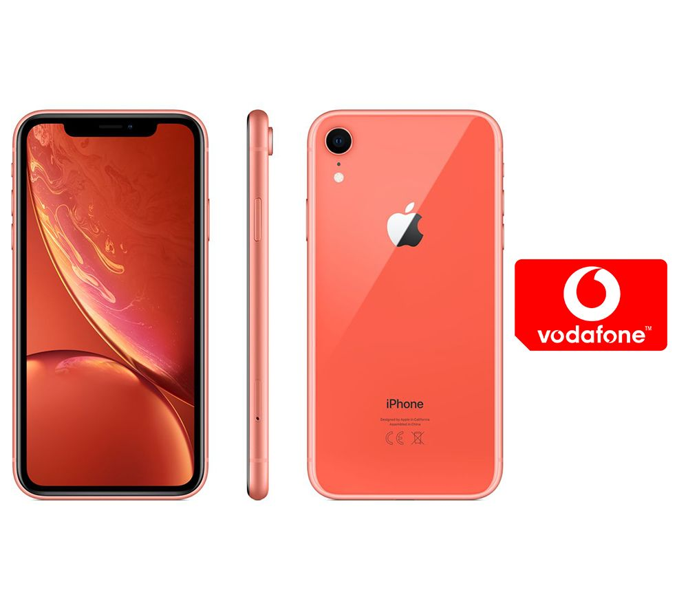 APPLE iPhone XR & Pay As You Go Micro SIM Card Bundle - 128 GB, Coral, Coral cheapest retail price