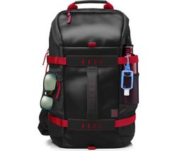 "HP Odyssey 15.6"" Laptop Backpack - Black & Red"
