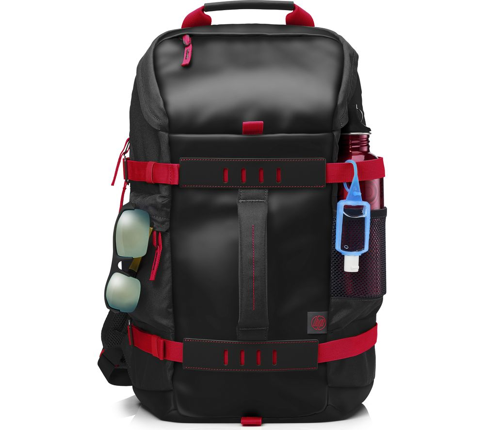 "Image of HP Odyssey 15.6"" Laptop Backpack - Black & Red, Black"