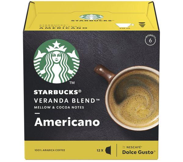 Image of STARBUCKS Dolce Gusto Veranda Blend Americano Coffee Pods - Pack of 12