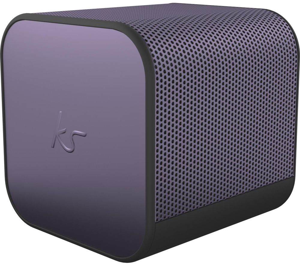KITSOUND BoomCube Portable Bluetooth Speaker - Metallic Purple