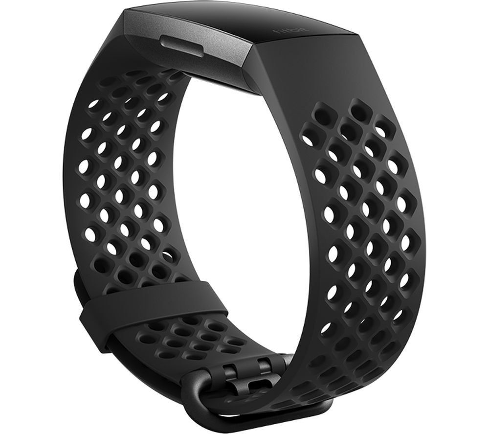 FITBIT Charge 3 Sport Band - Black, Large