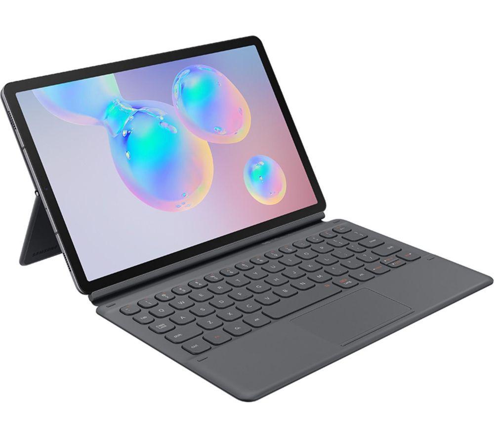 """SAMSUNG Galaxy Tab S6 10.5"""" Tablet & Keyboard Folio Case Bundle - 256 GB, Mountain Grey"""
