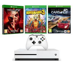 MICROSOFT Xbox One S 1 TB, Borderlands 3, Tekken 7 & Project Cars 2 Bundle