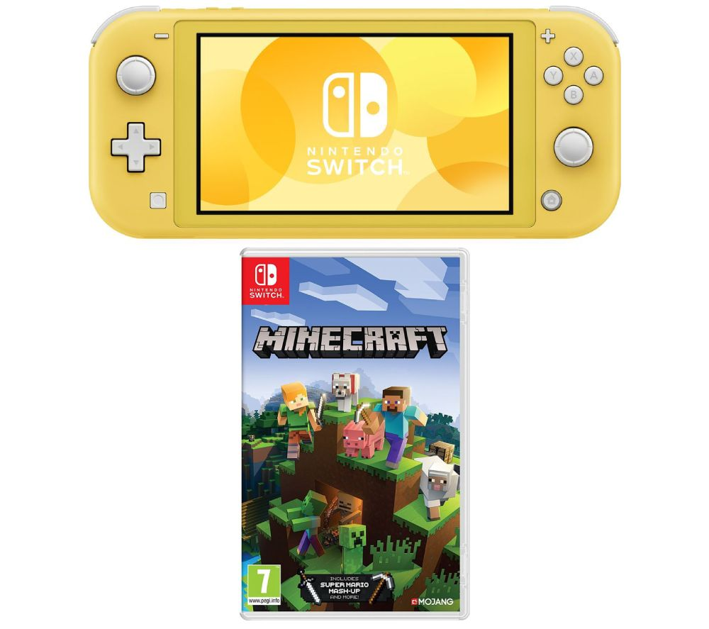 NINTENDO  Switch Lite & Minecraft Bundle - Yellow, Yellow