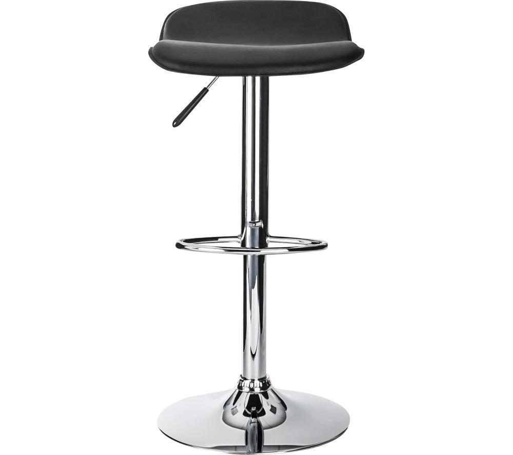 ALPHASON Ohio Leather Bar Stool Chair - Black, Black
