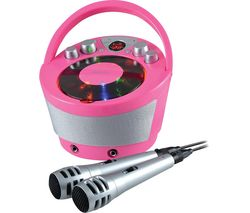 GV-PS923-PK Portable Bluetooth Karaoke Boombox - Pink