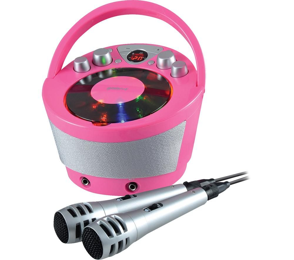 Image of GV-PS923-PK Portable Bluetooth Karaoke Boombox - Pink, Pink