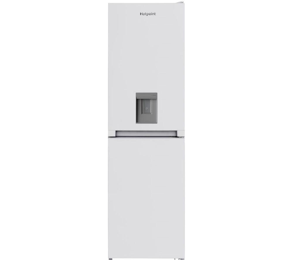 HOTPOINT Aquarius HBNF 55181 W AQUA UK 50/50 Fridge Freezer - White, Aqua