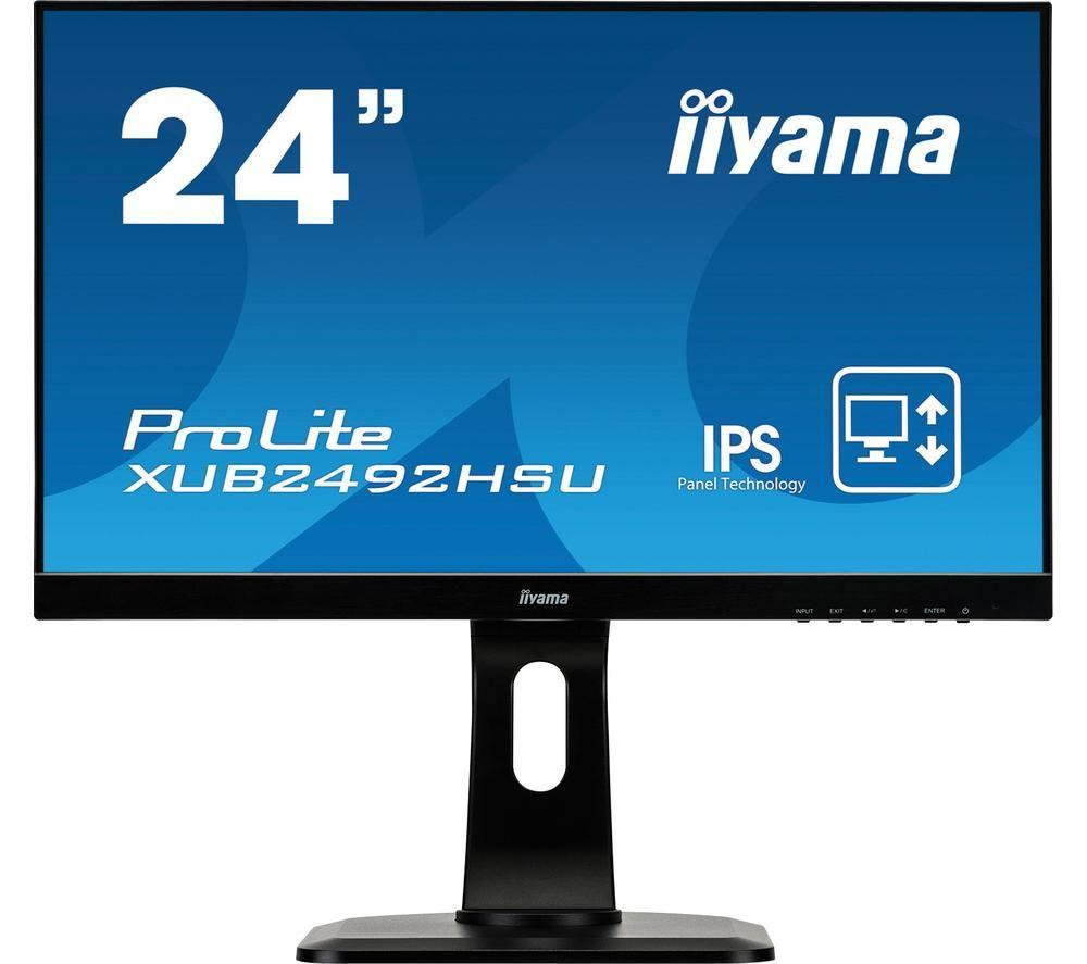 """IIYAMA ProLite XUB2492HSU-B1 Full HD 24"""" IPS LCD Monitor - Black"""