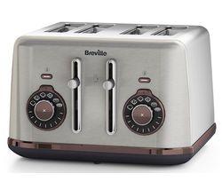 BREVILLE Selecta VTT953 4-Slice Toaster - Stainless Steel
