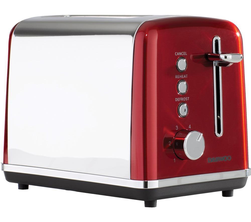 DAEWOO Kensington SDA1584 2-Slice Toaster - Red
