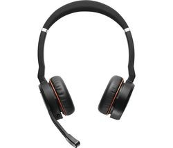 Evolve 75 Wireless Bluetooth Headphones - Black