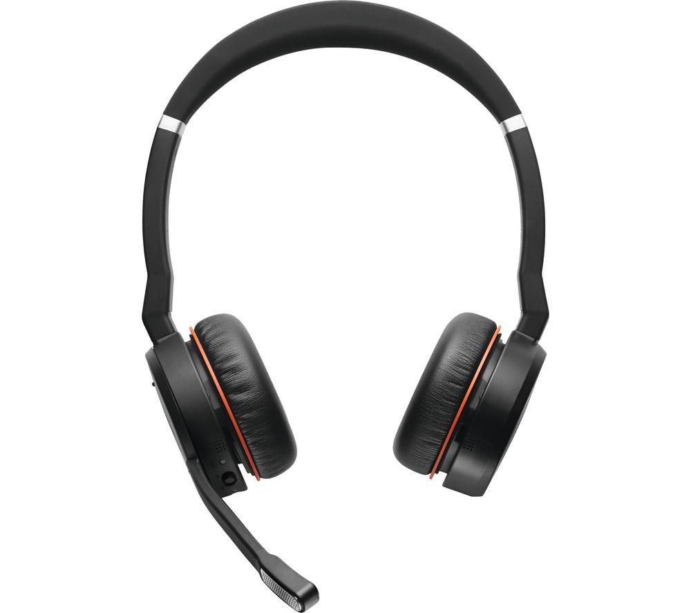 JABRA Evolve 75 Wireless Bluetooth Headphones - Black