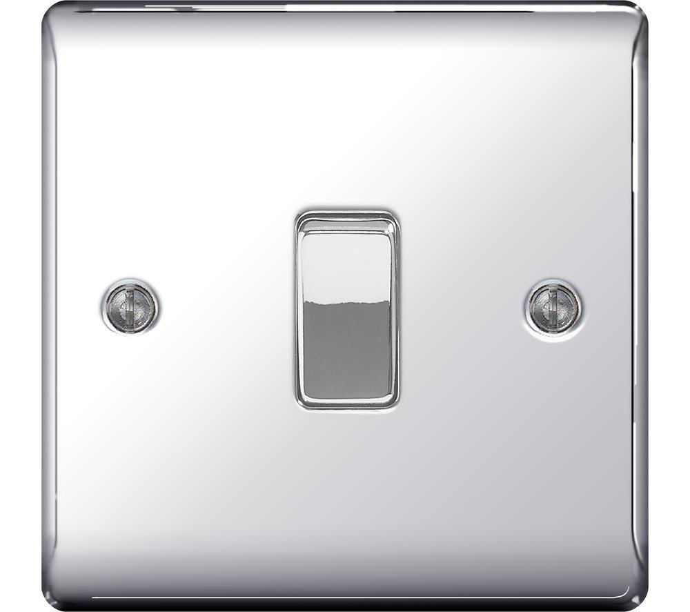 BG ELECTRICAL Decorative NPC12-01 Push-button Switch - Polished Chrome