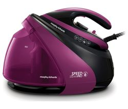 MORPHY RICHARDS Speed Steam Pro Intellitemp 332102 Steam Generator Iron - Black & Purple Best Price, Cheapest Prices