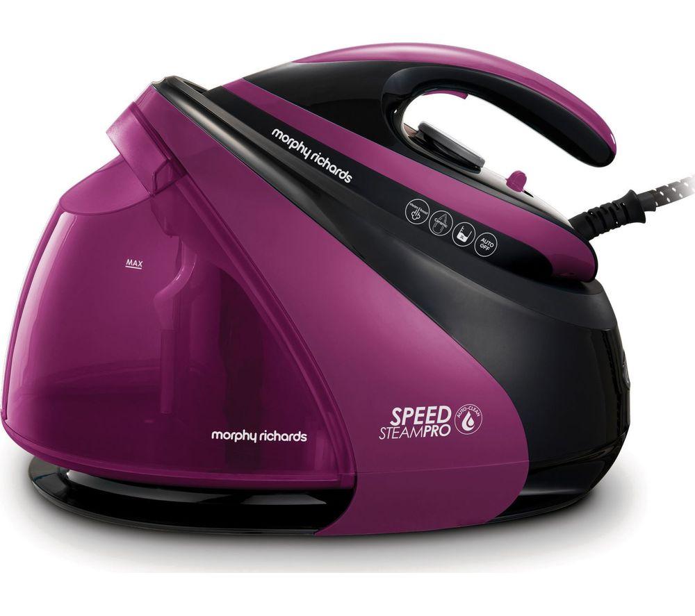 MORPHY RICHARDS Speed Steam Pro Intellitemp 332102 Steam Generator Iron - Black & Purple
