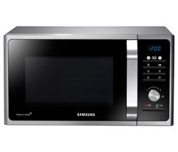 SAMSUNG MS23F301TAS Solo Microwave - Black & Silver Best Price, Cheapest Prices