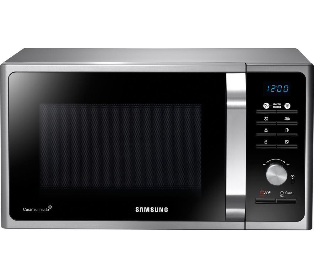Image of SAMSUNG MS23F301TAS Solo Microwave - Black & Silver, Black