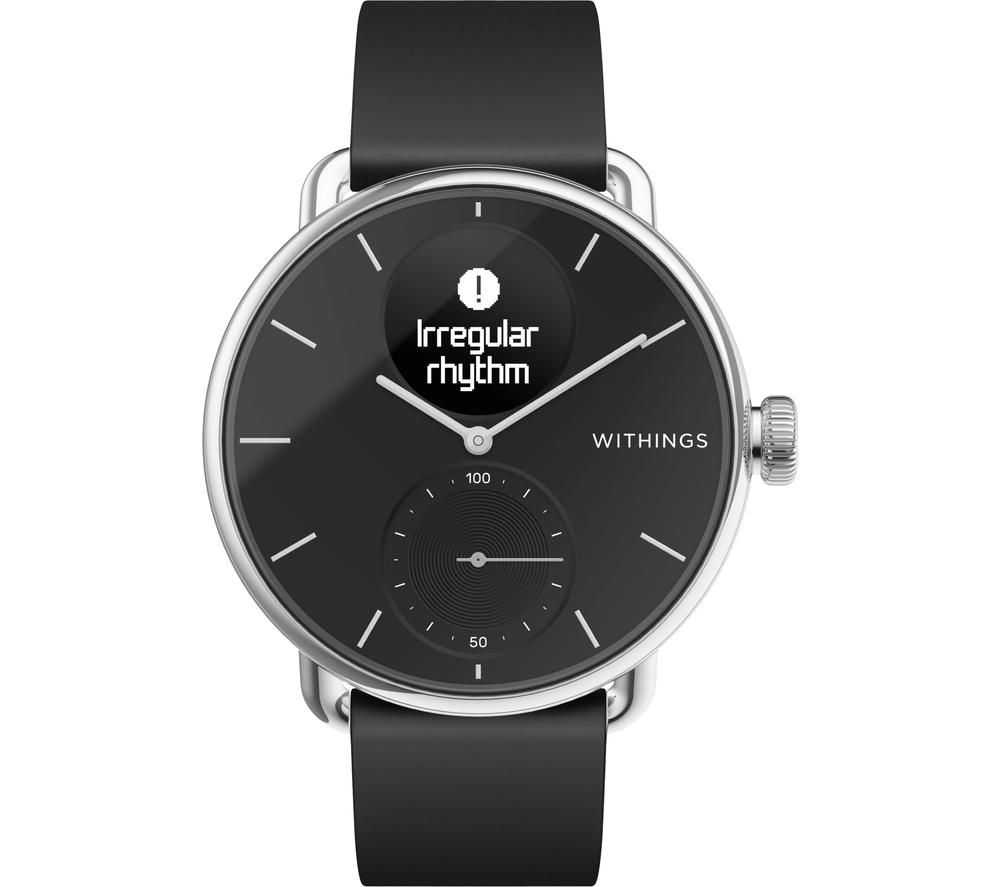 WITHINGS ScanWatch Hybrid Smartwatch - Black, 38 mm