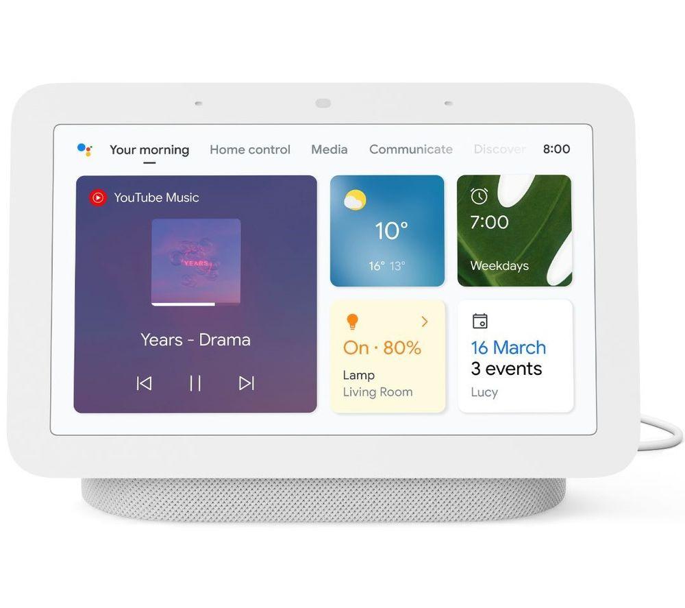 Nest Hub (2nd Gen) Smart Display with Google Assistant - Chalk