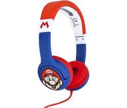 SM0762 Super Mario Kids Headphones - Red & Blue