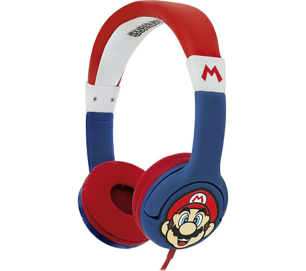 OTL SM0762 Super Mario Kids Headphones - Red & Blue