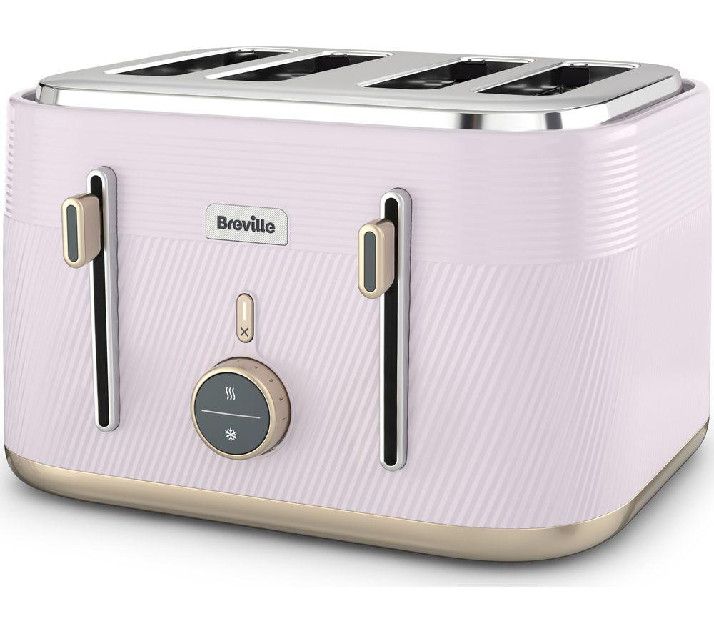 BREVILLE Obliq VTT998 4-Slice Toaster - Lilac & Gold, Gold