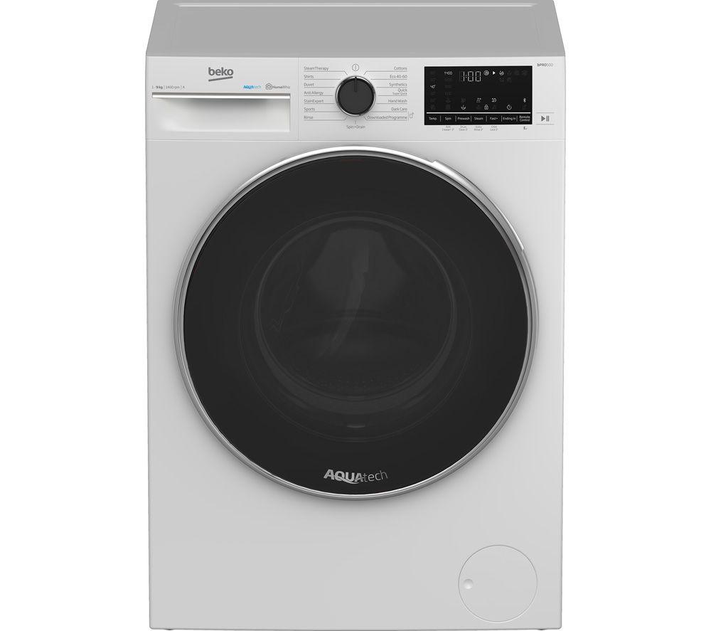 BEKO AquaTech B5W51041AW Bluetooth 10 kg 1400 Spin Washing Machine -û White