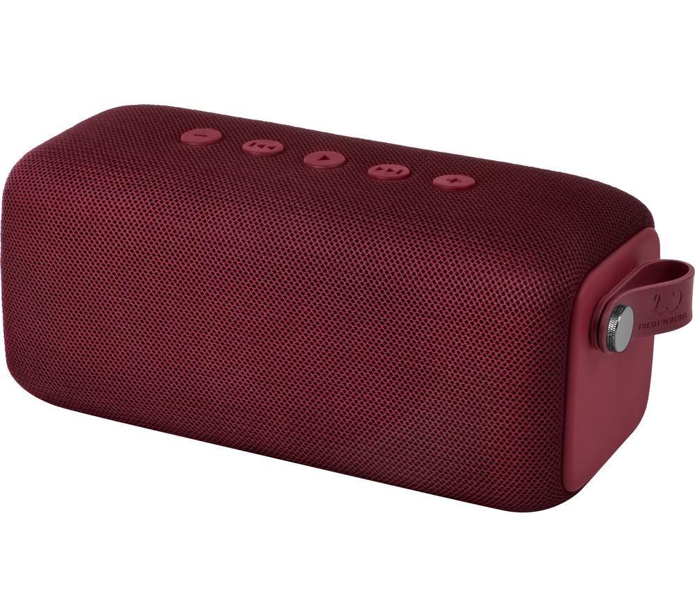 FRESH N REBEL Rockbox Bold M Portable Bluetooth Speaker - Ruby Red