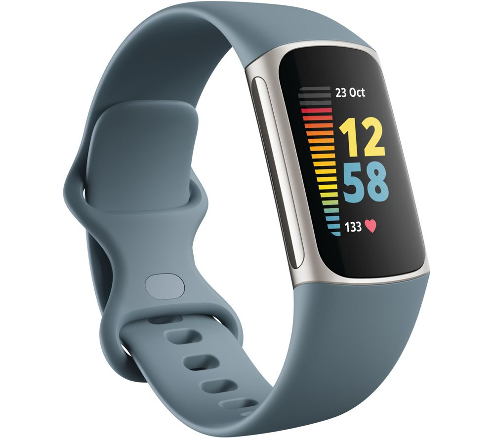 FITBIT Charge 5 Fitness Tracker - Steel Blue, Universal