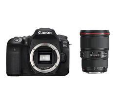 EOS 90D DSLR Camera & EF 16-35 mm f/4L USM IS Wide-angle Zoom Lens Bundle