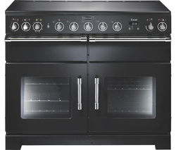 RANGEMASTER Excel 110 Induction Range Cooker - Black & Chrome
