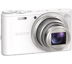SONY Cyber-shot DSC-WX350W Superzoom Compact Camera - White