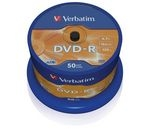 VERBATIM 16x Speed DVD-R Blank DVDs - Pack of 50
