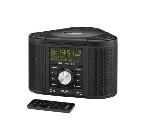 PURE Chronos CD Series II DAB Clock Radio - Black, Black