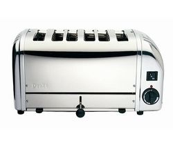 DUALIT Vario 378701 6-Slice Toaster - Stainless Steel