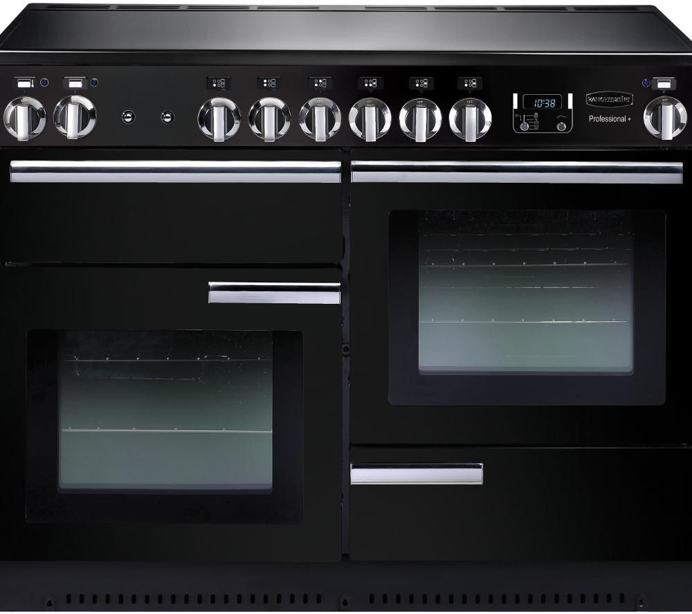 RANGEMASTER Professional+ 110 Electric Ceramic Range Cooker - Black & Chrome