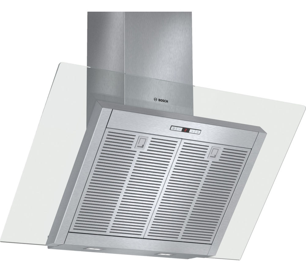 Image of BOSCH DWK098E51B Chimney Cooker Hood - Stainless Steel, Stainless Steel