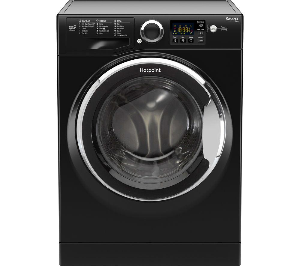 Image of HOTPOINT Smart RSG964JKX Washing Machine - Black, Black