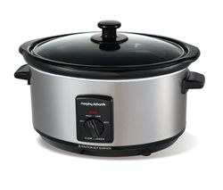 MORPHY RICHARDS 48709 Slow Cooker - Stainless Steel Best Price, Cheapest Prices
